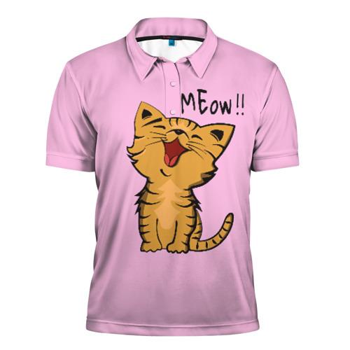 Мужская рубашка поло 3D  Фото 01, Meow !!