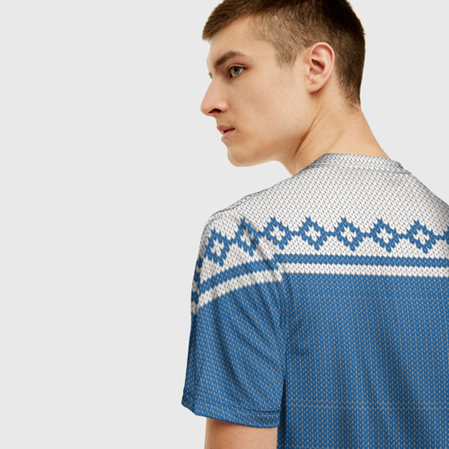 Мужская футболка 3D Свитер с Оленем Фото 01