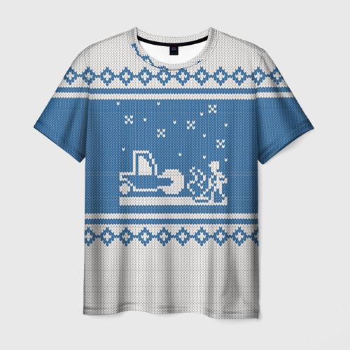 Мужская футболка 3D  Фото 03, Свитер с Оленем