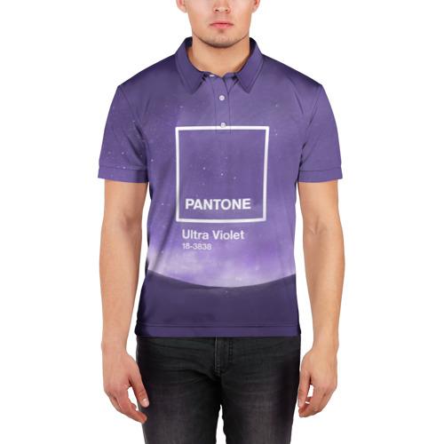 Мужская рубашка поло 3D  Фото 03, Ультрафиолет Космос