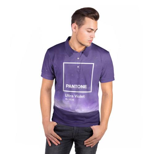 Мужская рубашка поло 3D  Фото 05, Ультрафиолет Космос