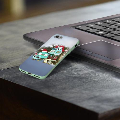 Чехол для Apple iPhone 8 силиконовый глянцевый Харви Бикс Фото 01
