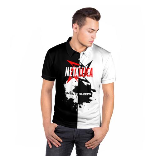 Мужская рубашка поло 3D  Фото 05, Until it sleeps, Metallica