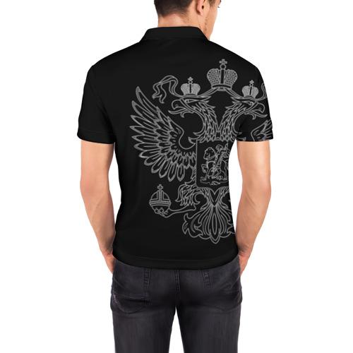 Мужская рубашка поло 3D  Фото 04, Связь белый герб РФ