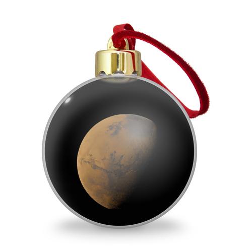 Ёлочный шар с блестками  Фото 01, Марс