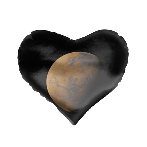 Подушка 3D сердце  Фото 01, Марс
