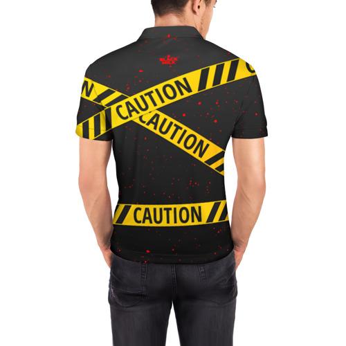 Мужская рубашка поло 3D  Фото 04, Caution Style