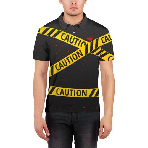 Мужская рубашка поло 3D  Фото 03, Caution Style