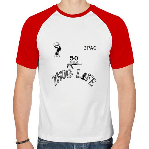 Мужская футболка реглан  Фото 01, Татуировки Тупака