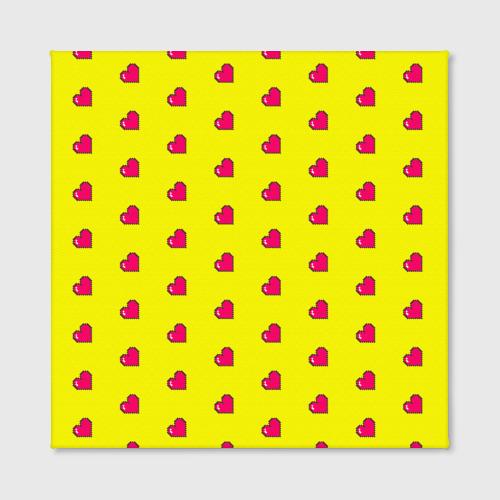 Холст квадратный  Фото 02, Love 8 bit yellow