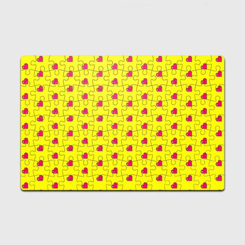 Пазл магнитный 126 элементов  Фото 01, Love 8 bit yellow