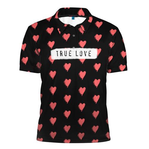 Мужская рубашка поло 3D  Фото 01, True Love