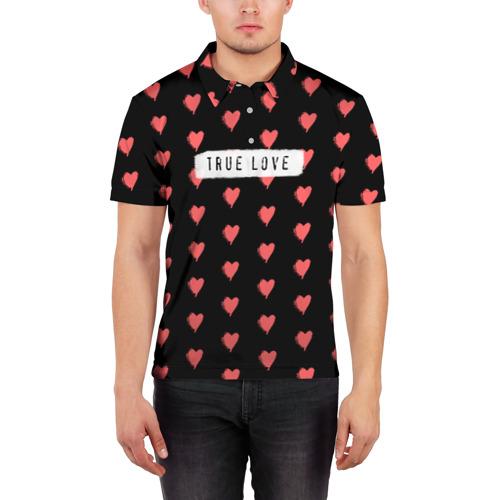 Мужская рубашка поло 3D  Фото 03, True Love
