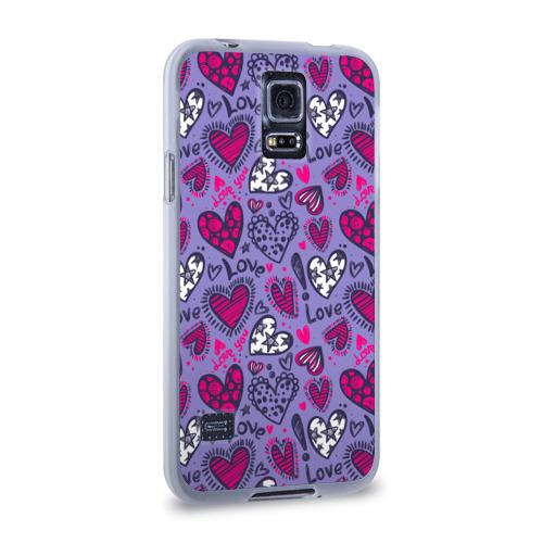 Чехол для Samsung Galaxy S5 силиконовый  Фото 02, Love! Love! Love!