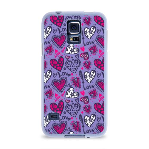 Чехол для Samsung Galaxy S5 силиконовый  Фото 01, Love! Love! Love!