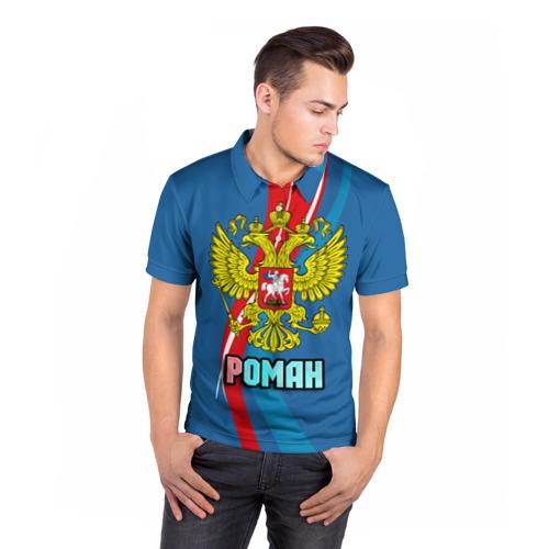 Мужская рубашка поло 3D  Фото 05, Герб Роман