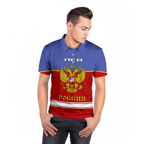 Мужская рубашка поло 3D  Фото 05, Хоккеист Лев