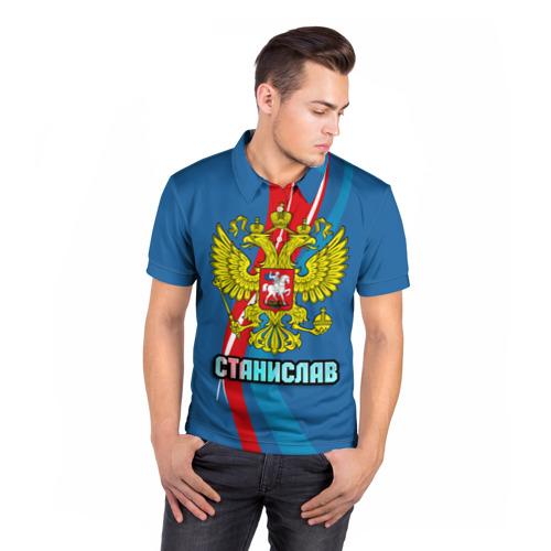 Мужская рубашка поло 3D  Фото 05, Герб Станислав