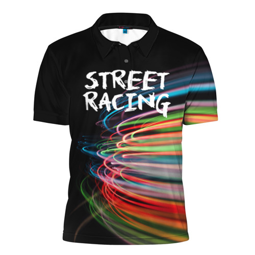Мужская рубашка поло 3D  Фото 01, Street racing