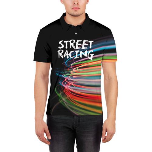 Мужская рубашка поло 3D  Фото 03, Street racing