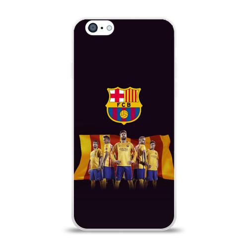 Чехол для Apple iPhone 6 силиконовый глянцевый Барселона