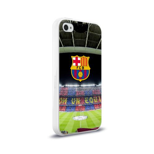 Чехол для Apple iPhone 4/4S силиконовый глянцевый Барселона