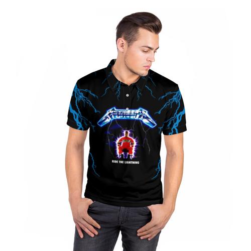 Мужская рубашка поло 3D  Фото 05, Metallica, ride the lightning