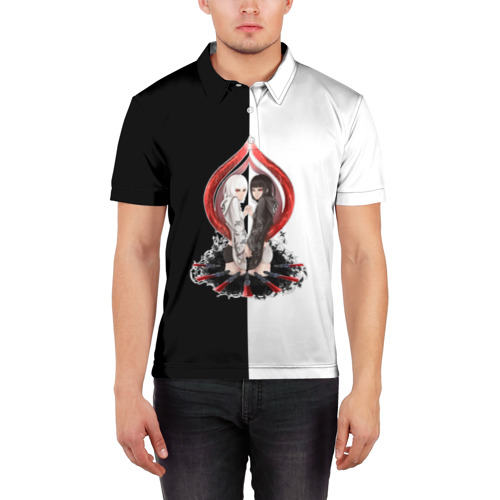 Мужская рубашка поло 3D  Фото 03, Kurona & Nashiro (Tokyo Ghoul)