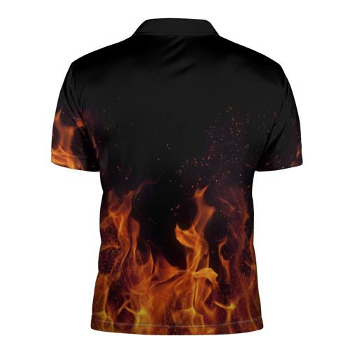 Мужская рубашка поло 3D  Фото 02, Вова огонь мужик