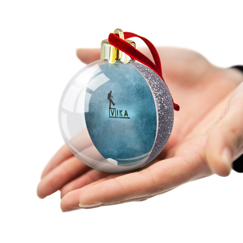 Ёлочный шар с блестками  Фото 03, Вика в стиле Доктор Хаус