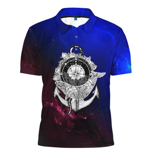 Мужская рубашка поло 3D  Фото 01, Кит space