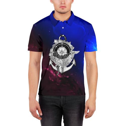 Мужская рубашка поло 3D  Фото 03, Кит space