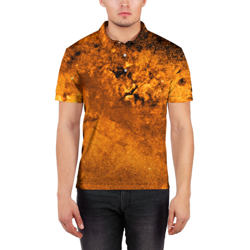 Мужская рубашка поло 3D  Фото 03, Gold Space