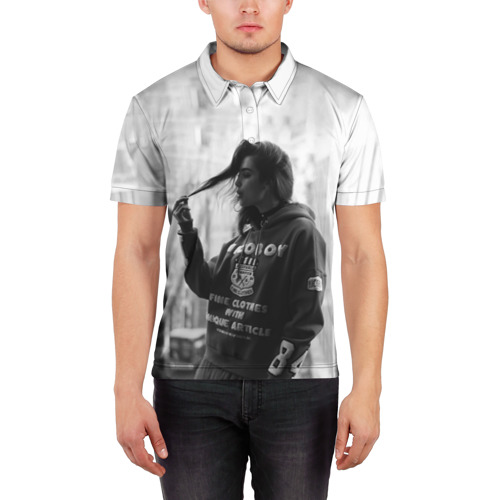 Мужская рубашка поло 3D  Фото 03, Дуа Липа