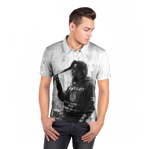 Мужская рубашка поло 3D  Фото 05, Дуа Липа