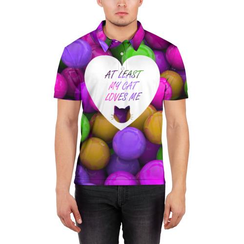 Мужская рубашка поло 3D  Фото 03, Loves me