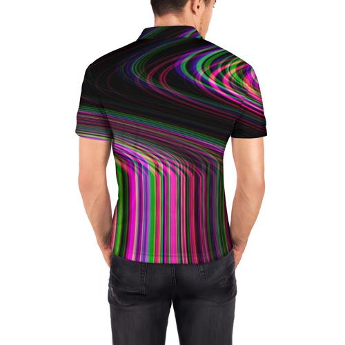 Мужская рубашка поло 3D  Фото 04, Неоновый свет