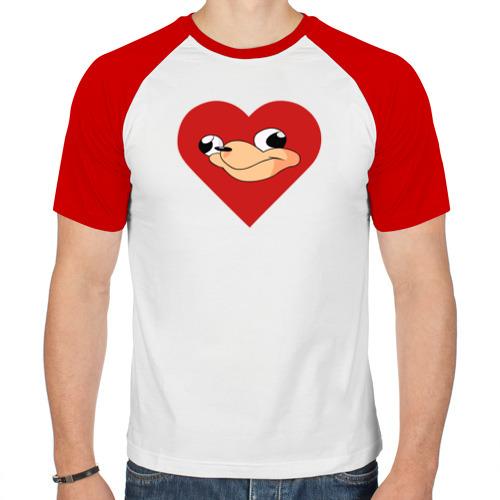 Мужская футболка реглан  Фото 01, Heart