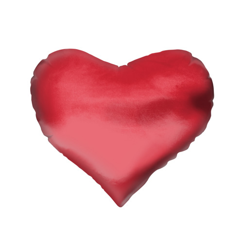 Подушка 3D сердце  Фото 02, Red