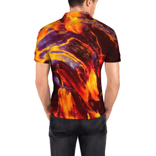 Мужская рубашка поло 3D  Фото 04, Fire