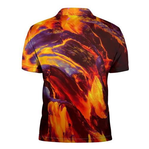 Мужская рубашка поло 3D  Фото 02, Fire