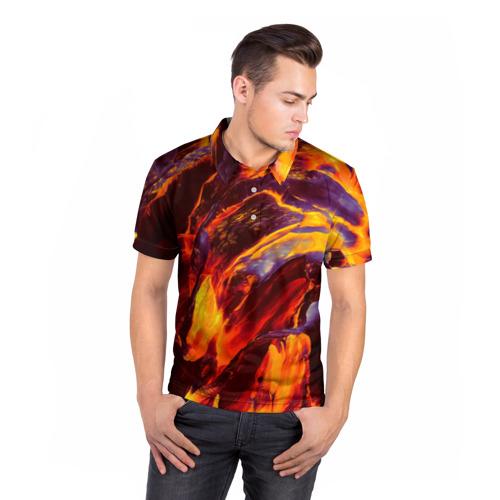 Мужская рубашка поло 3D  Фото 05, Fire