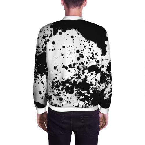 Мужской бомбер 3D  Фото 04, Черно-белые капли
