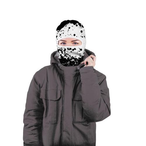 Балаклава 3D  Фото 04, Черно-белые капли