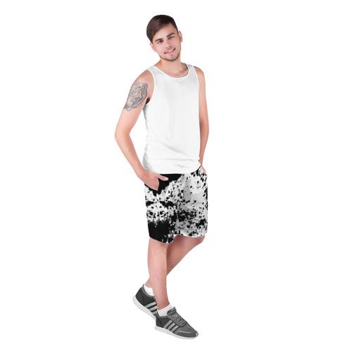 Мужские шорты 3D  Фото 03, Черно-белые капли