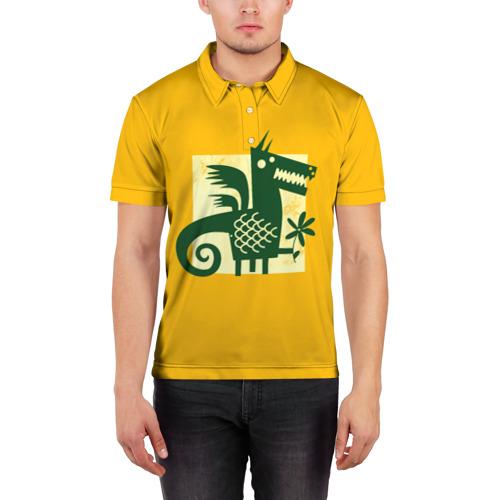 Мужская рубашка поло 3D  Фото 03, Дракон