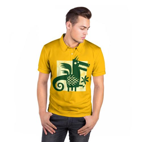 Мужская рубашка поло 3D  Фото 05, Дракон