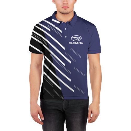 Мужская рубашка поло 3D  Фото 03, SUBARU SPORT