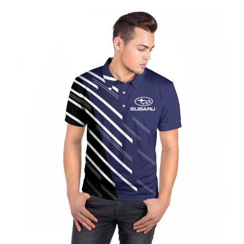 Мужская рубашка поло 3D  Фото 05, SUBARU SPORT