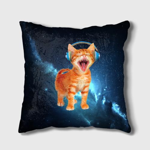 Подушка 3D  Фото 01, Котёнок в наушниках